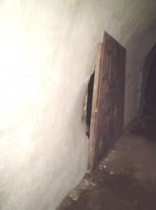 赤山地下壕の閉鎖板