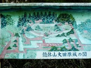 大田原城の図
