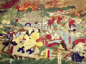 河鍋暁斎「東台戦争落去之図」