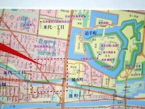 山本家周辺古地図