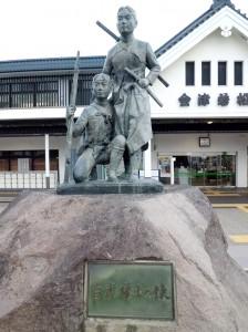 会津若松駅白虎隊士の像