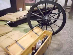 鶴ヶ城籠城戦の大砲模型
