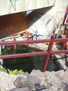 土方湯治の岩風呂の源泉