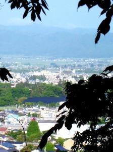 天寧寺からの鶴ヶ城