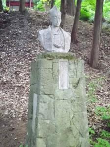愛宕神社の容保像
