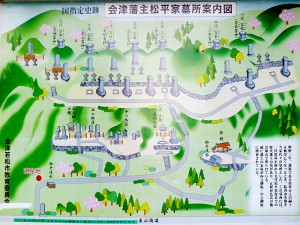 松平家廟所案内地図