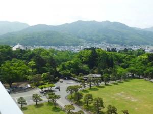 鶴ヶ城から小田山方面