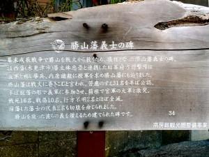 勝山藩義士の説明