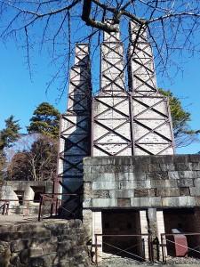 韮山反射炉南側