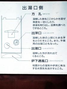 反射炉出湯口側説明