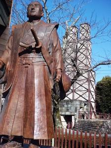 韮山反射炉と坦庵像
