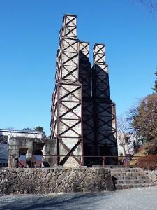 韮山反射炉東側