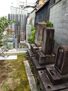 長遠寺の人見寧が眠る人見家の墓所