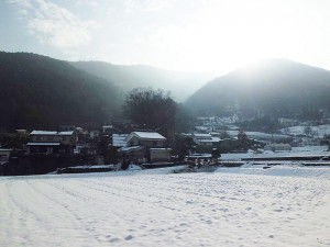 里山辺林郷兎田の山々