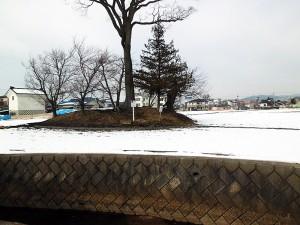 井川城跡と濠