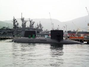 呉アレイからすこじまの海上自衛隊潜水艦