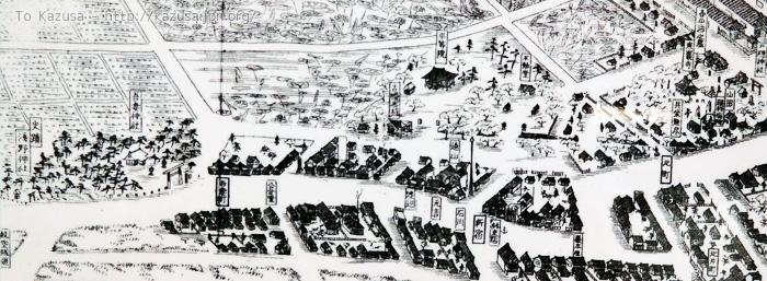 木更津吾妻の浅野神社と喜平治の墓の場所