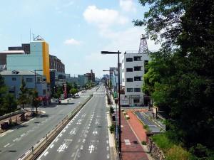 岡山から見た天王寺方面