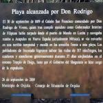 ドンロドリゴ上陸地碑スペイン語