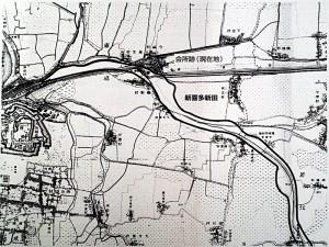 新喜田新田会所跡大和川地図