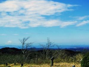 富津岬と富士山