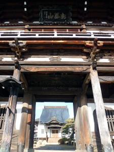 満光寺鐘楼門と本堂