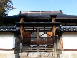 建福寺本堂の屋根の棟の家紋