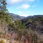 藤沢城展望北側杖突峠方面